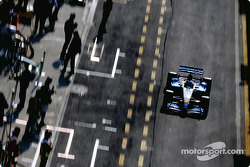 Fernando Alonso out of the pits