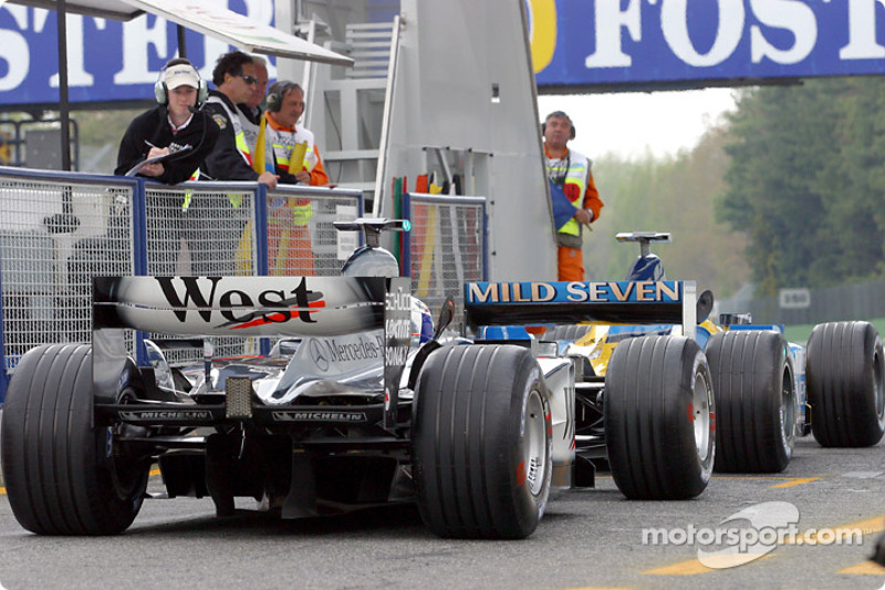 Fernando Alonso y David Coulthard en Europa 2003