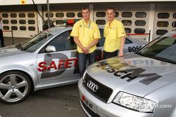 Martin Tomczyk und Peter Terting mit dem Safety-Car