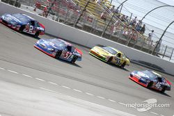 Ron Hornaday battles with Jason Keller