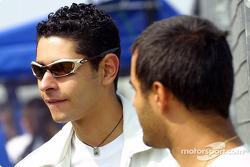 Juan Pablo Montoya and Jonatan Jorge, a karting champion and former Formula Dodge and Formula Ford driver