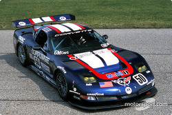Sporting a new livery for the 2003 24 Hours of Le Mans, the Corvette C5-R completes its final US test with Ron Fellows driving