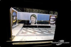 British artist Julian Opie brings together Art ve Formula 1 racing