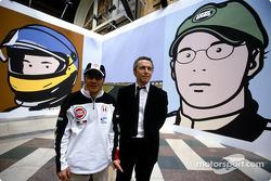 British artist Julian Opie brings together Art ve Formula 1 racing: Jacques Villeneuve ve Julian Opie