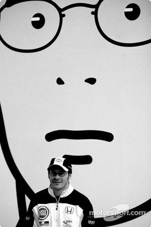 El artista británico Julian Opie junta el arte con la Fórmula 1: Jacques Villeneuve