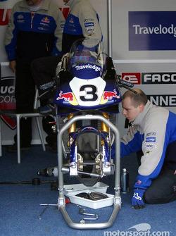 Renegade Ducati garage area