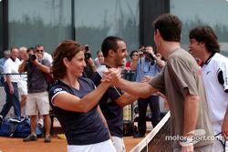 Torneo de tenis de caridad en la Academia Sanchez-Casal en Barcelona: Arantxa Sánchez, Juan Pablo Mo