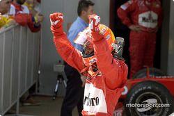 Ganador Michael Schumacher celebra