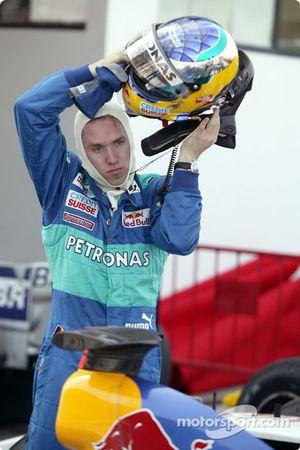 Nick Heidfeld después de la carrera