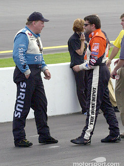 Jimmy Spencer and Tony Stewart