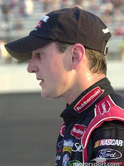 Kurt Busch: sweat drips off his chin