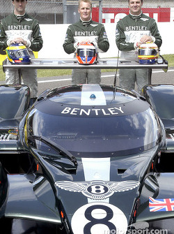 Team Bentley: David Brabham, Johnny Herbert and Mark Blundell