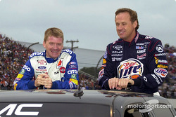Jeff Burton y Rusty Wallace