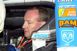 Ken Schrader in the car