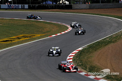 Olivier Panis and Ralf Schumacher