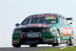 John Bowe in the 888 OzEmail Ford gets air borne