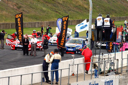 V8 Supercars on the grid for Round 3 at Eastern Creek Australia