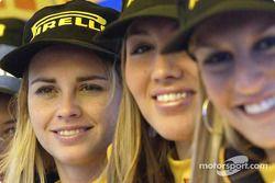 The lovely Pirelli girls