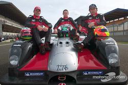 Max Papis, Gunnar Jeannette, Olivier Beretta with the JML Team Panoz LMP-01