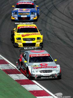 Bernd Schneider, Team HWA, AMG-Mercedes CLK-DTM 2003; Laurent Aiello, Abt Sportsline, Abt-Audi TT-R
