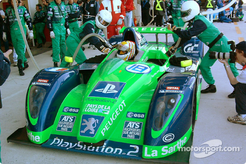 Pitstop practice at Pescarolo Sport