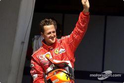 Pole winner Michael Schumacher