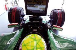 Mark Webber watches qualifying
