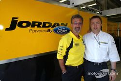Eddie Jordan with Jost Capito from Ford Team RS