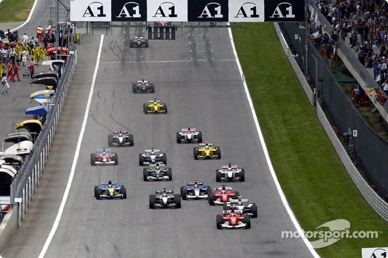 Após uma década, a pista retornou ao calendário da F1, reformada, tendo Hermann Tilke no comando. Com este formato, a corrida foi disputada até 2003. Já como Red Bull Ring, voltou em 2014.