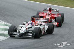 Jenson Button, BAR 005, Rubens Barrichello, Ferrari F2005