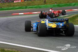 Rubens Barrichello y Fernando Alonso