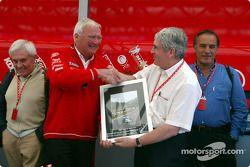 Mike Doodson celebrates his 500th Grand Prix