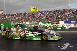 John Force and Tony Pedregon go side by-side to that first and second qualifying positions