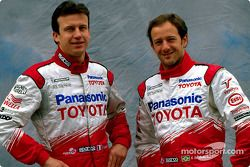 Toyota photoshoot: Olivier Panis and Cristiano da Matta