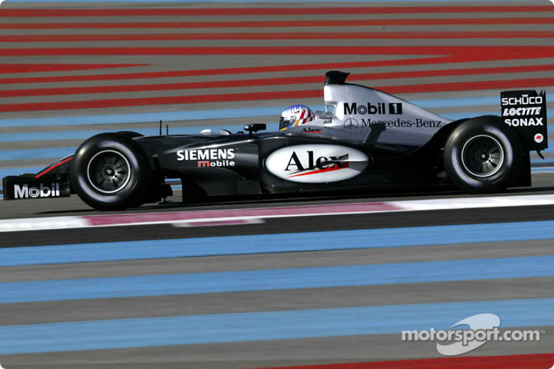 Alexander Wurz test the new McLaren Mercedes MP4-18