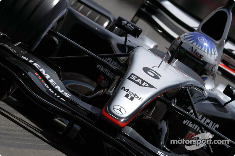 Alexander Wurz test the new McLaren Mercedes MP4-18