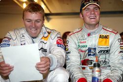 Pressekonferenz: Marcel Fässler, Team HWA, AMG-Mercedes CLK-DTM 2003; Martin Tomczyk, Abt Sportsline