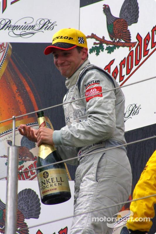 The podium: race winner Christijan Albers