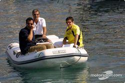 Giancarlo Fisichella en un bote