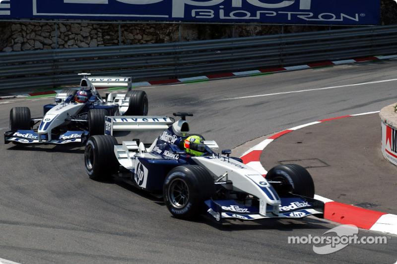 Ralf Schumacher lidera a Juan Pablo Montoya