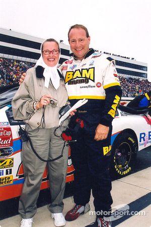 Ken Schrader with car owner Beth Ann Morgenthau