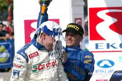 Champagne for Markko Martin, courtesy of Petter Solberg