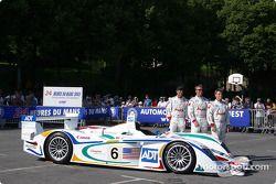 Team presentation: #6 Champion Racing Audi R8: Emanuele Pirro, J.J. Lehto, Stefan Johansson