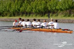 Rowing race on Ile Notre-Dame