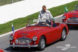 Drivers parade: Kimi Raikkonen