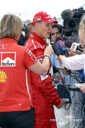 Post-race interview for Michael Schumacher