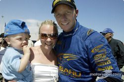 Petter Solberg with wife Pernilla and son Oliver