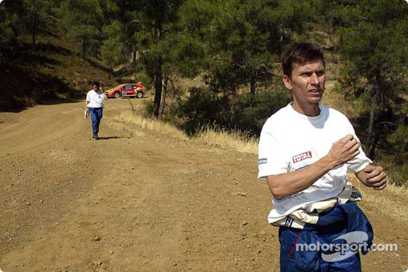 Gilles Panizzi out of the rally