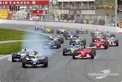 La arrancada Ralf Schumacher lidera a Juan Pablo Montoya