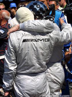 Race winner Christijan Albers and Bernd Schneider